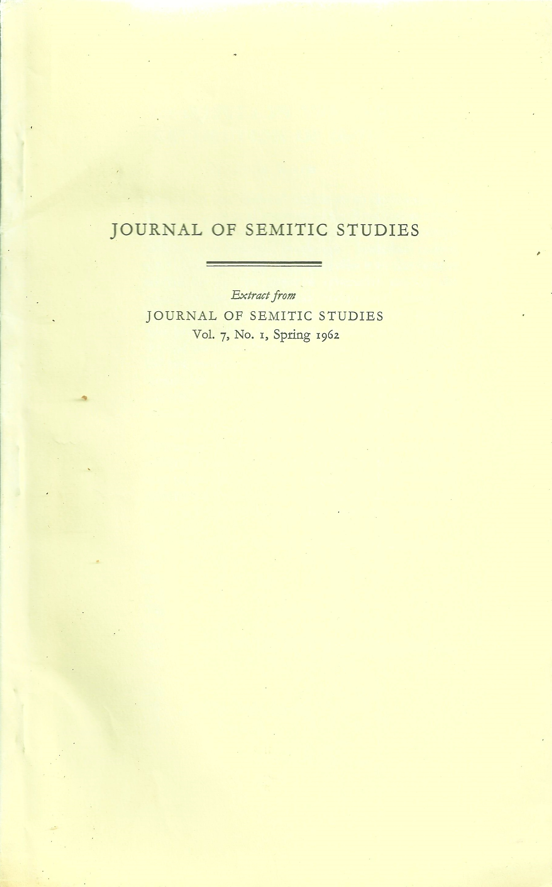 Dan wyman books llc the pharisees in the jewish revolution of 66 73 journal of semitic studies 1962 1st edition offprint original paper wrappers 8vo p 63 80 25cm solutioingenieria Image collections