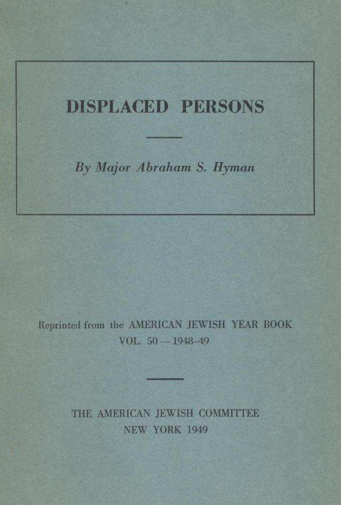 Dan wyman books llc new york american jewish committee 1949 original wrappers 12mo 455 474 pages 18 cm offprint reprinted from the american jewish year book vol fandeluxe Images
