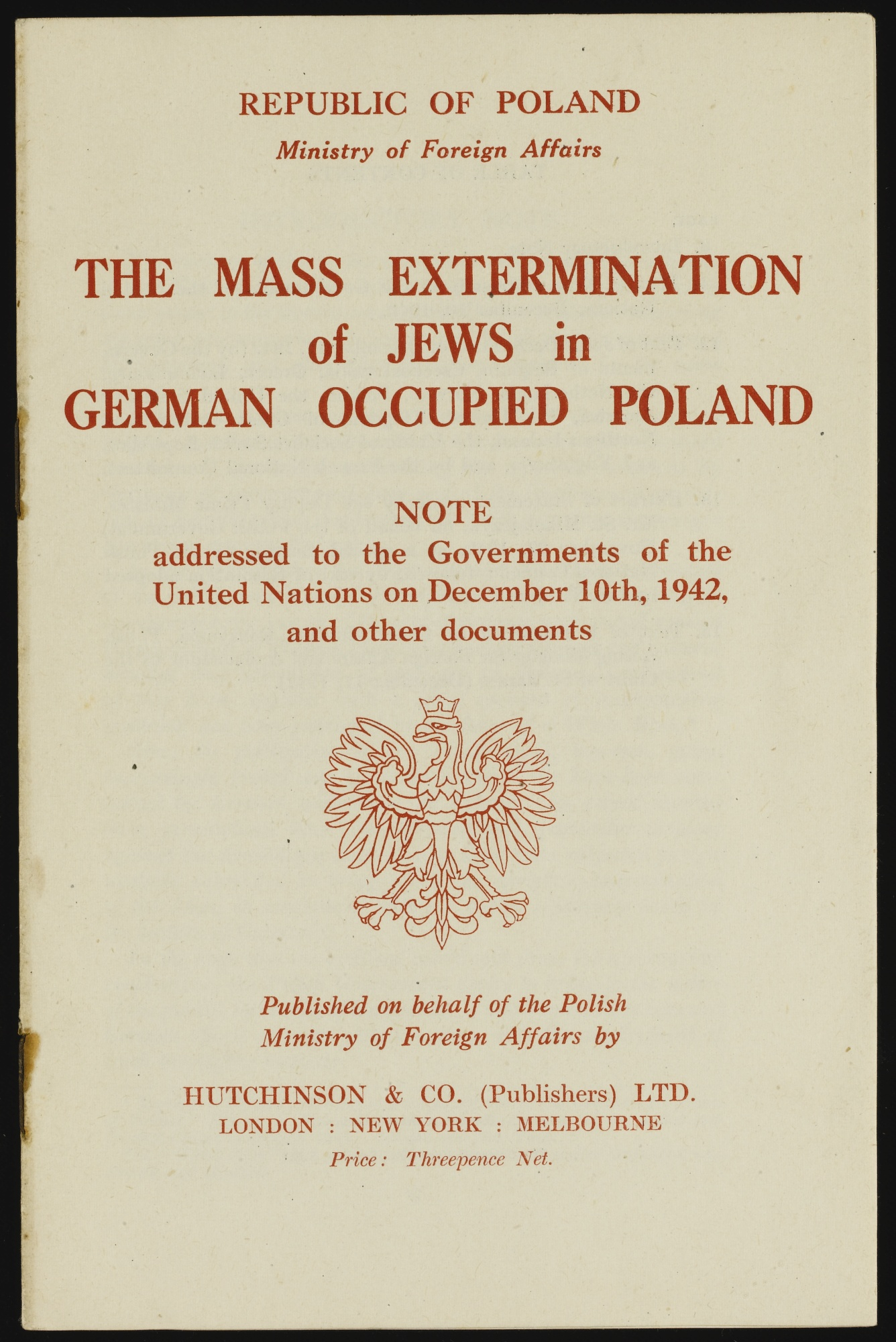 1942 1943 essay from legend letter modernity occupied poland